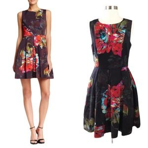 TRINA TURK Floral Dress Hanna A-Line Cocktail 4
